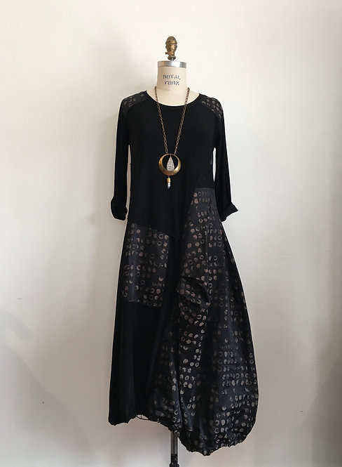 Long Dress with Contrasting Skirt