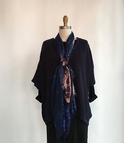 Short Sleeve Rib Knit V-neck Sweater
