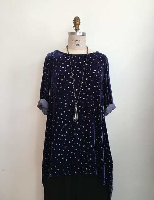 Velvet Burn Out Dot Tunic