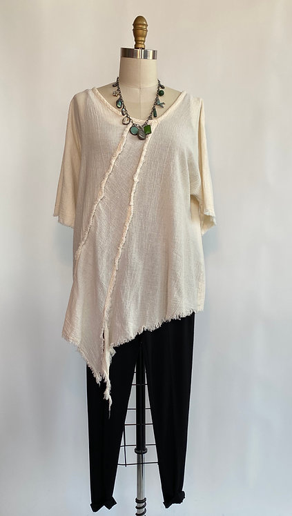 Gauze Shaggy Top