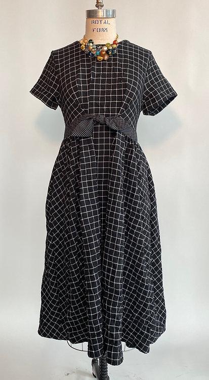 Black Windowpane Dress