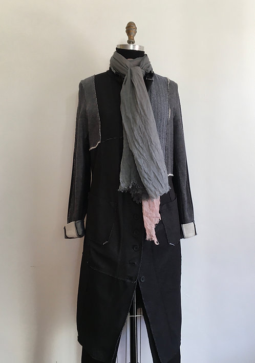 Menswear Fabric Patchwork Duster