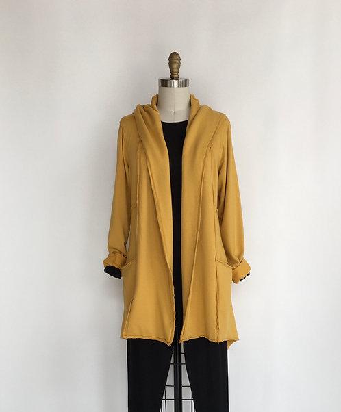 Open Sweatshirt Cardigan with Hood