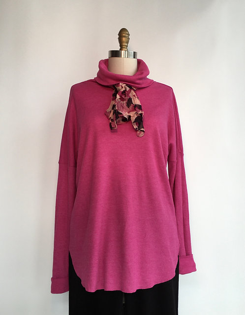 Thermal Cowl with Shirttail Hem