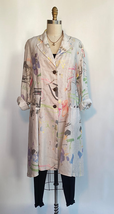 Hand Painted Linen Duster