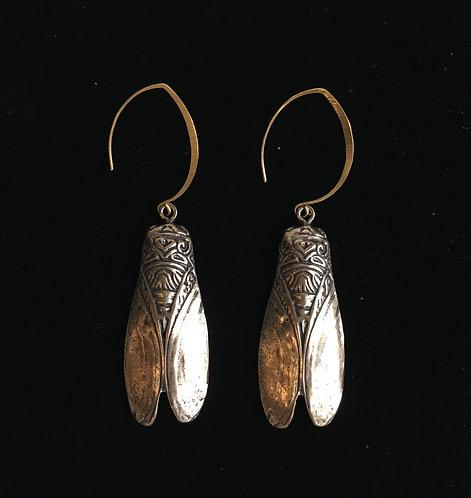 Bronze Cicada Earring