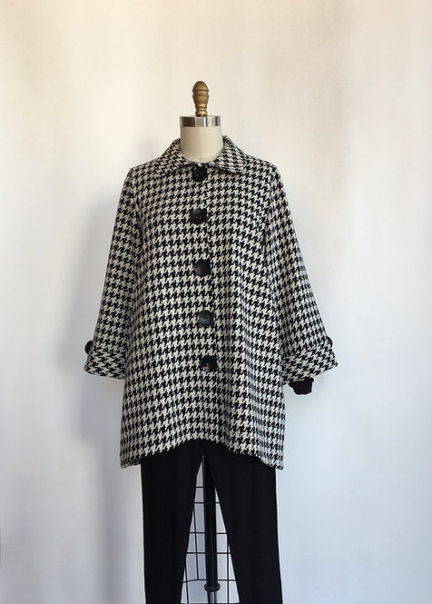 Houndstooth Swing Jacket