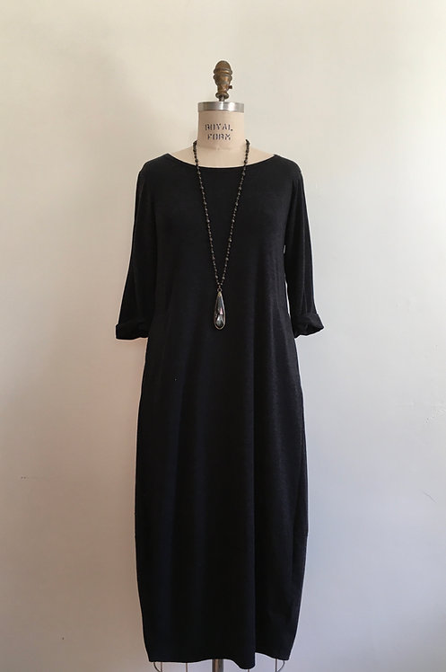 3/4 Sleeve Tulip Dress with Side Pockets