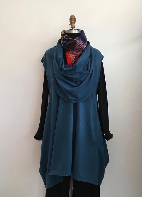 Cowl Neck Sleeveless Tunic/Vest