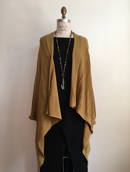 Open Draped Knitted Cardigan
