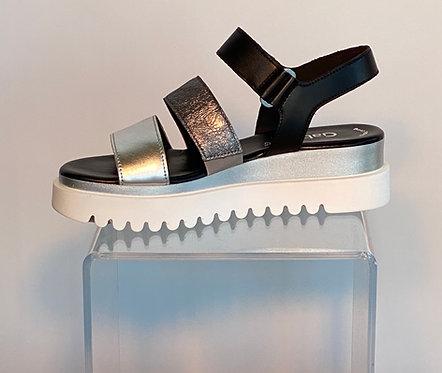 Gabor Silver Strap Sandal