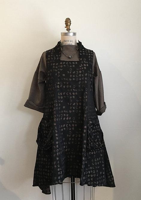 Sun Kim Back Zip Dotted Dress