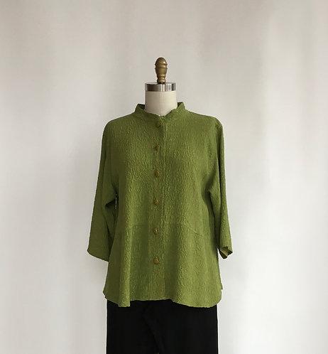 Short Jacket in Textured Silk