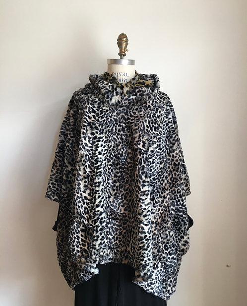 Faux Fur Cheetah Poncho