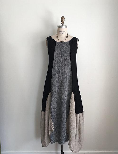 Tri Color Gauze Dress