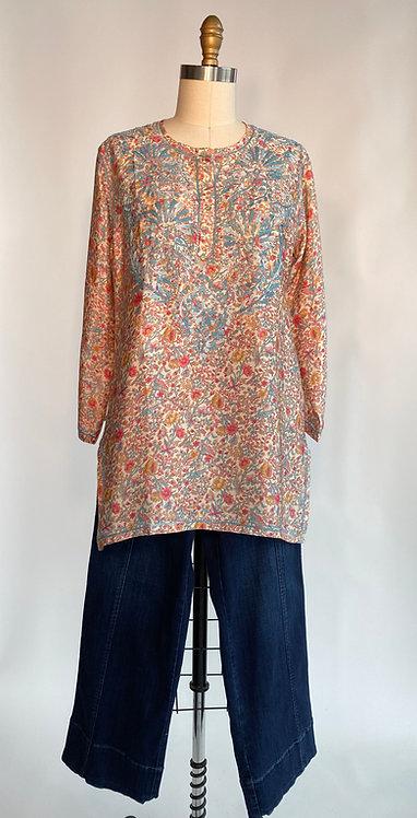 Love Kyla Silky Hand Embroidered Tunic
