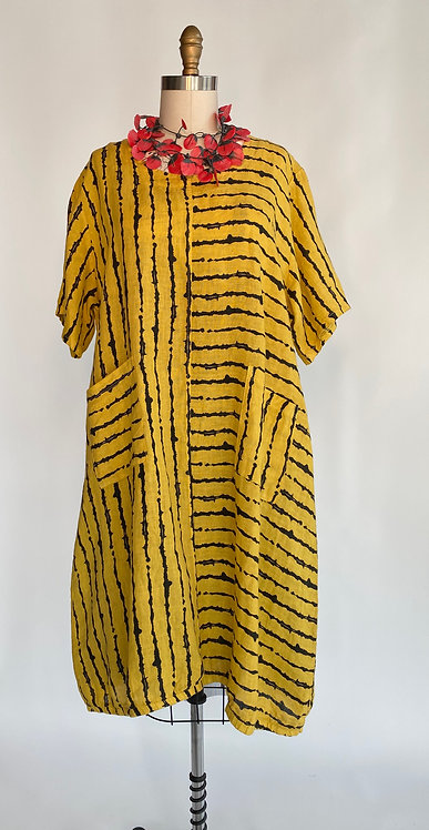 Transparente Striped Linen Dress