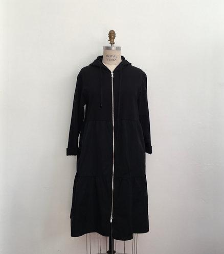 Mixed Media Zipped Jacket Dress