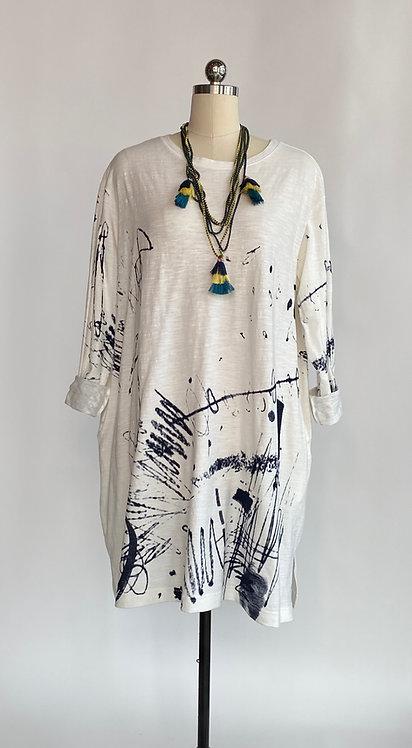 Moyuru White Cotton T Shirt Dress