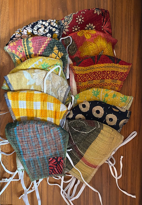 Kantha Fabric Face Masks