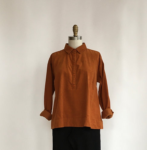Short Collared Shirt in Pinwale Corduroy
