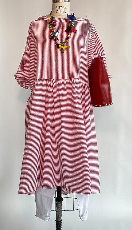 Red Stripe Picnic Dress
