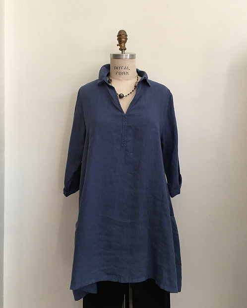 V-Neck Tunic with Collar