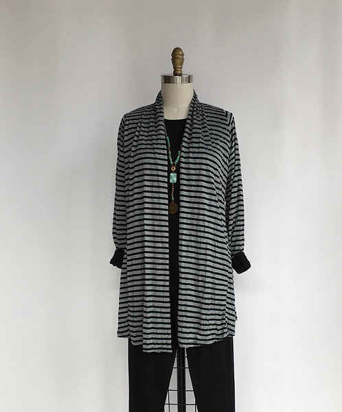 Comfy Striped Open Cardigan