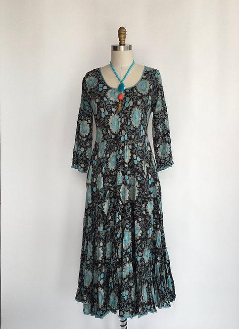 Hand Blocked Indian Cotton Dress