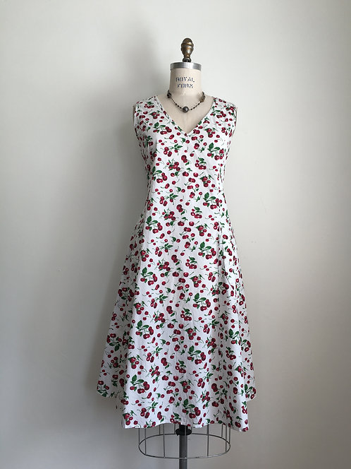 Tulip Print Sundress with Back Tie