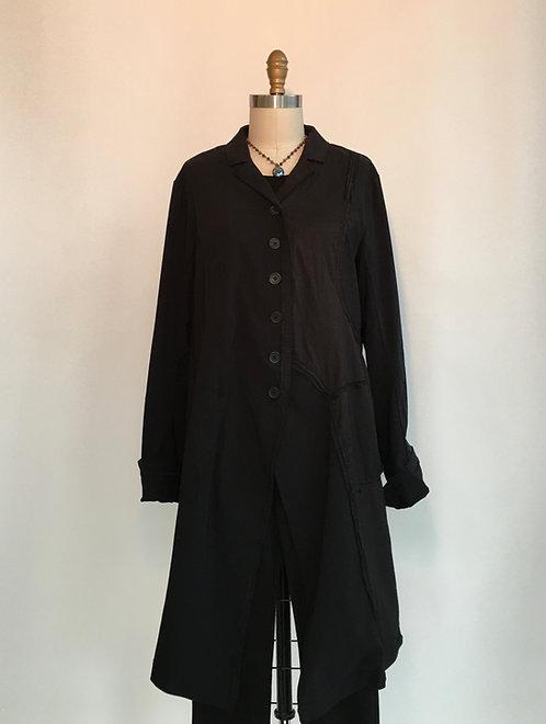 Long Jacket with Raw Edge Seams