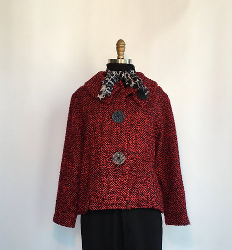 Boucle Jacket with Round Collar