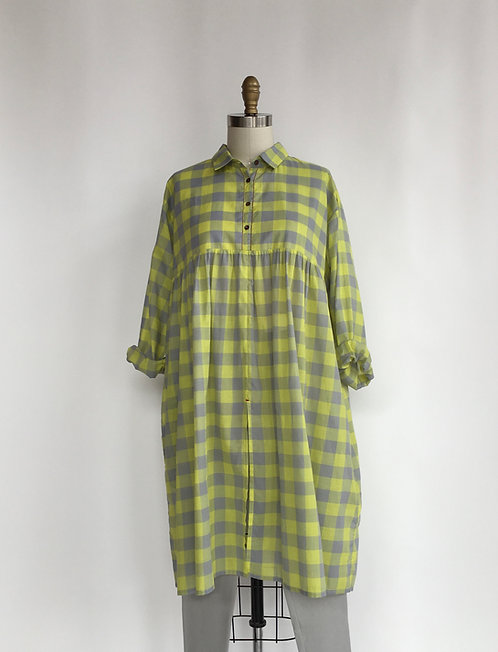 Lightest Cotton Checked Dress