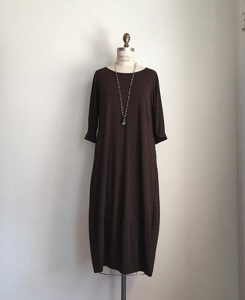 Cut Loose Long 3/4 Sleeved Dress