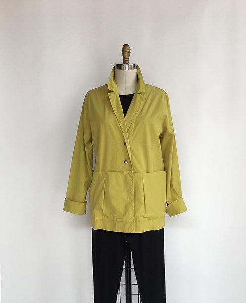 Boxy Cotton Jacket with Pockets