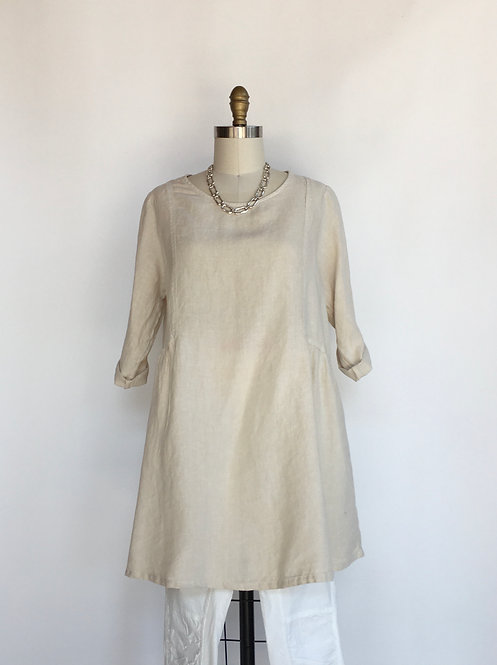 Linen Tunic with Side Seams