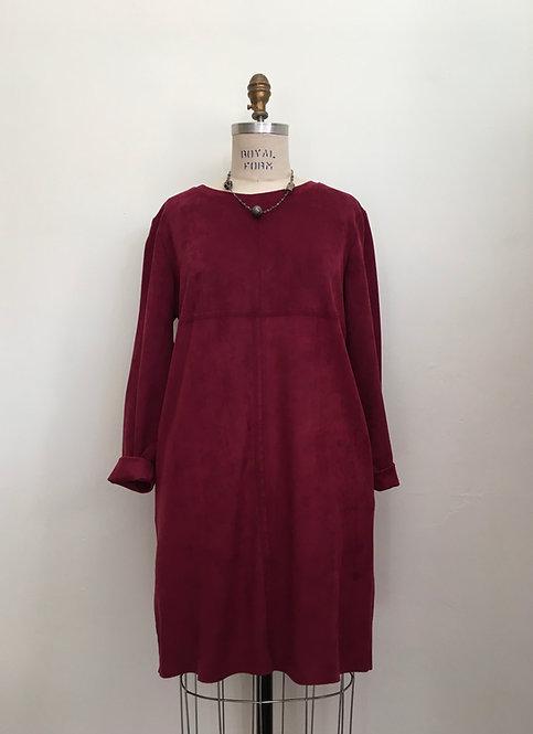 Short Washable Suede Dress