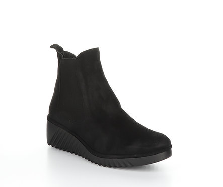 Fly London Suede Chelsea Boot with Wedge Heel