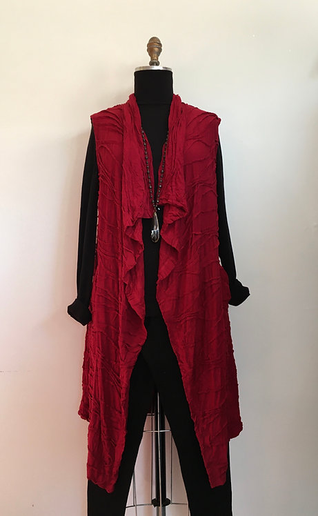 Open Tunic Vest with Textured Swirls