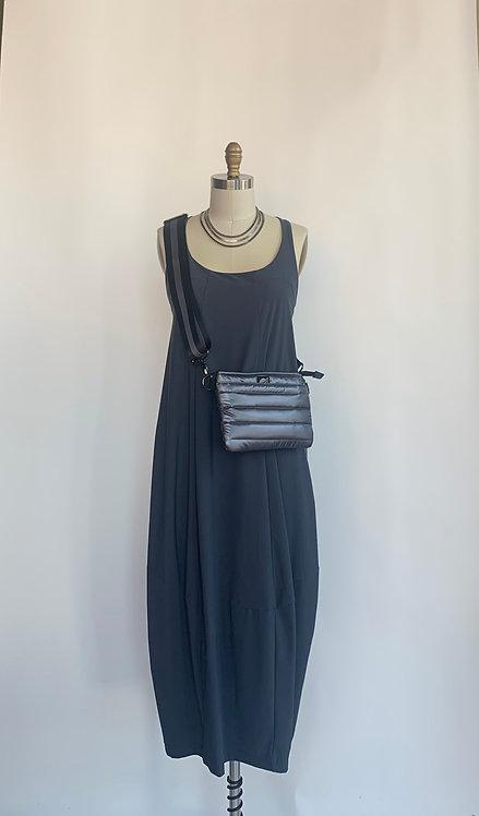 Sleek Charcole Grey Ankle Length Dress