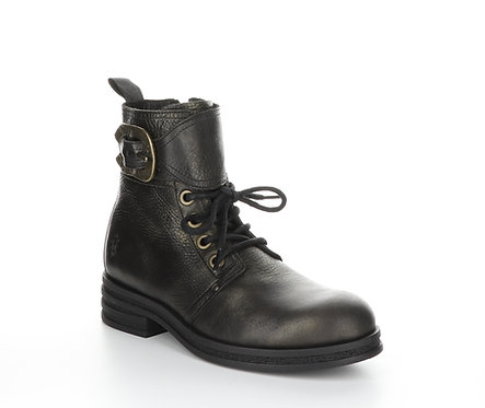 Fly London Combat Boot with Gold Wash