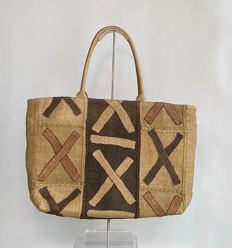 African Kuba Cloth X Tote