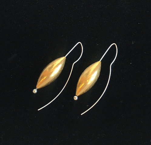 Large Gold Cone Earring