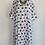 Thumbnail: Loose Fit Polka Dot Cotton Collared Dress