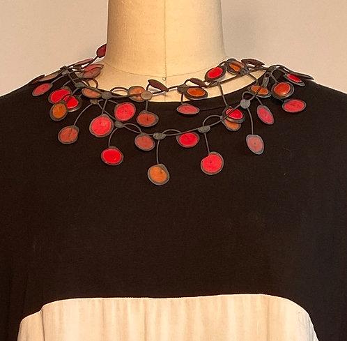 AnneMieke Red/Rubber Necklace