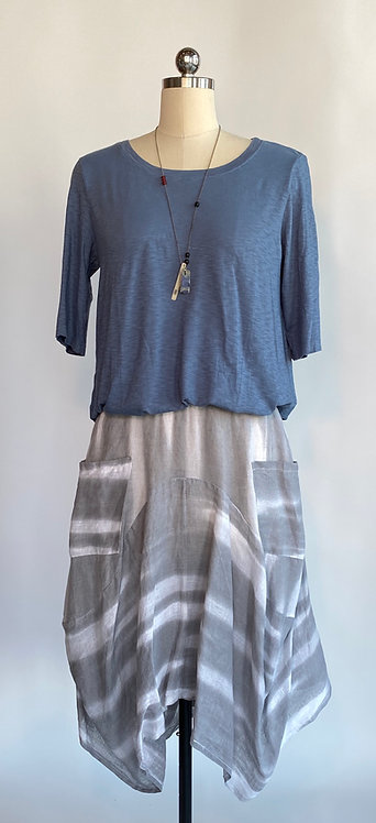 Inizio Gray Stripe Skirt