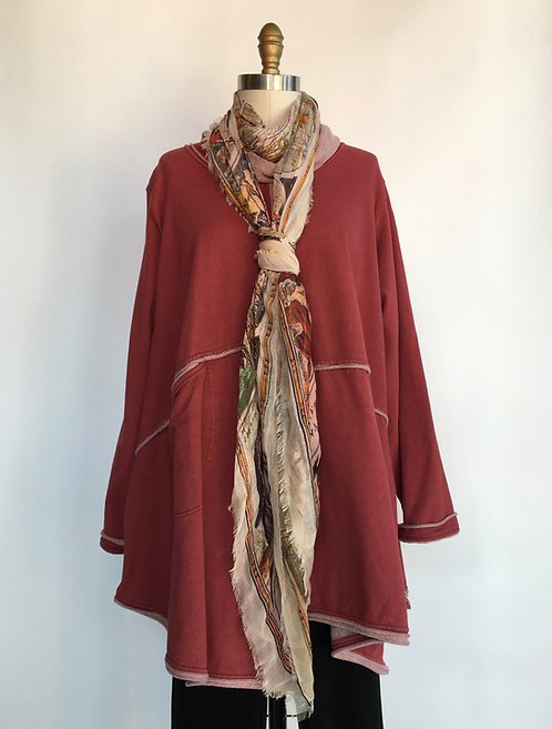 Contrasting Seam Tunic with Cowl