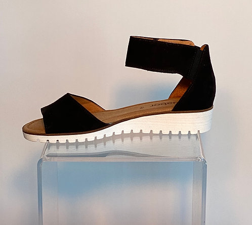 Gabor Black Strap Sandal