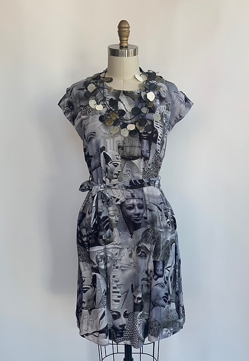 Egyptian Print Short Dress