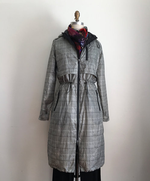 Down Coat with Toggles and Hood